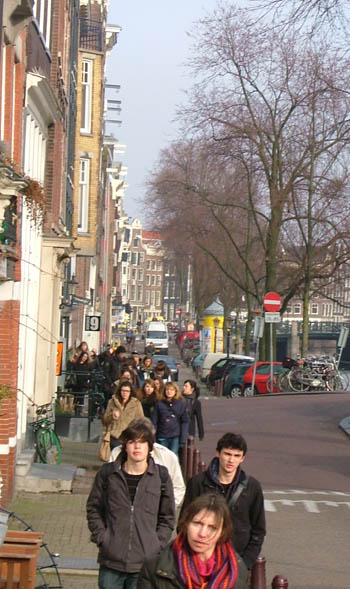 Walking the streets of Amsterdam